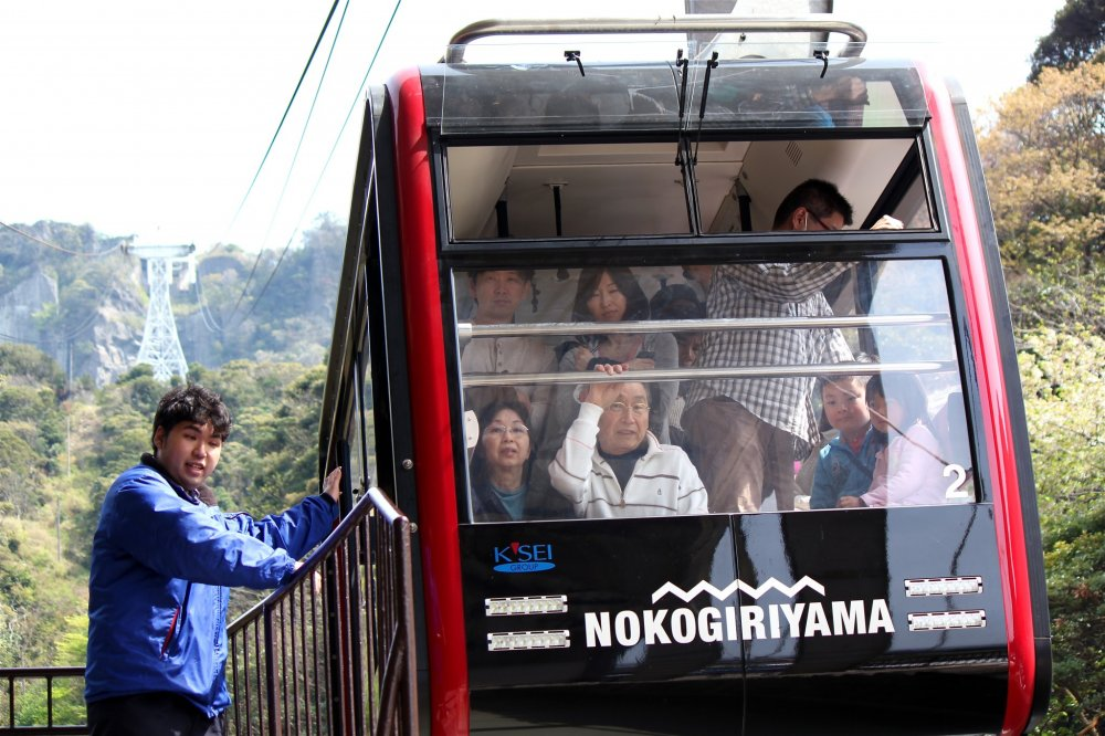 The Nokogiriyama Ropeway is open daily from 9:00am - 5:00pm (weather permitting). Adults 500 yen one-way, 930 yenroundtrip; Children (ages 5-11) are half price.