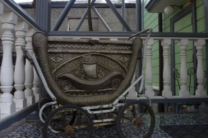 One of the museums displays--an old baby carriage.