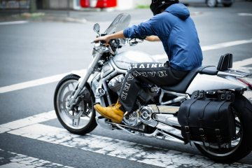 Renting a Harley-Davidson in Kyoto