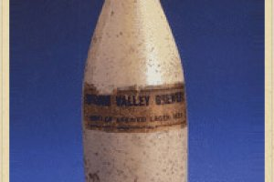 Original ceramic beer bottle of Spring Valley Brewery