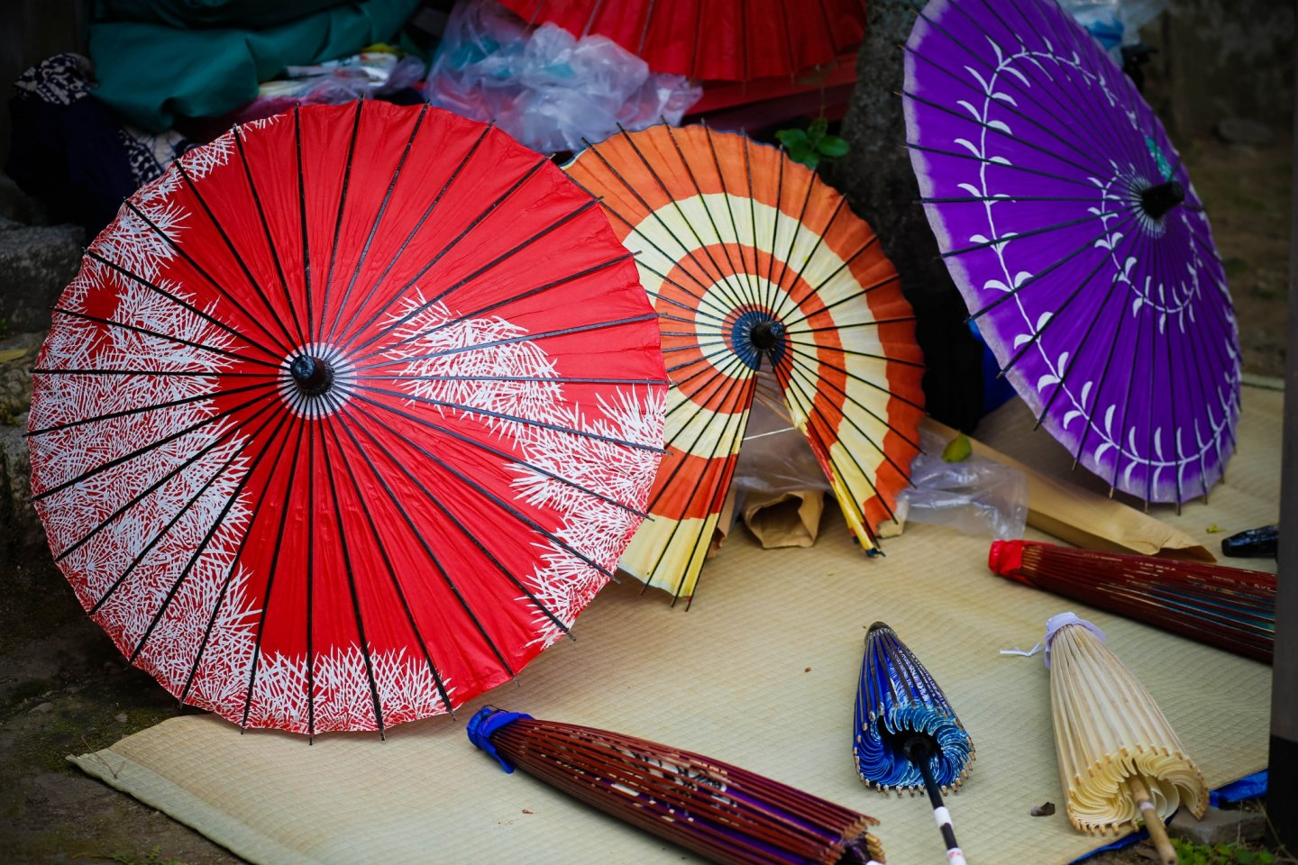 Beautiful traditional umbrellas