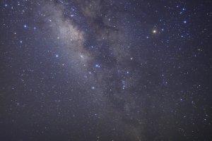 Céu estrelado sobre as ilhas