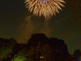 Un superbe feu d'artifice au Tachikawa Showa Kinen Park !