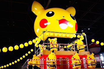 요코하마에서 피카츄의 인기