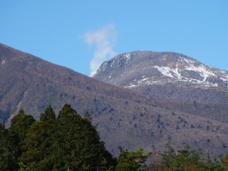 """Mt. Nasu, our local active """"Volcano"""", letting of a bit of steam. Mt Nasu in one of Japan's top 100 mountains, surrounded by walking trails and stunning views"""