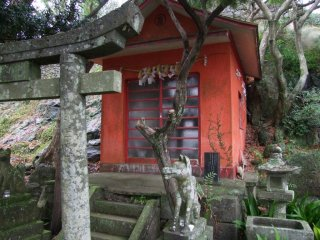 You'll find the occasional Shinto shrine as well.