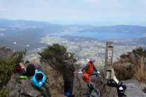 La vue depuis le sommet