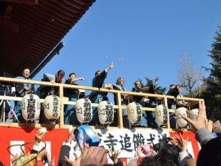 Le lancé de haricot (mame-maki) au temple Sensô-ji