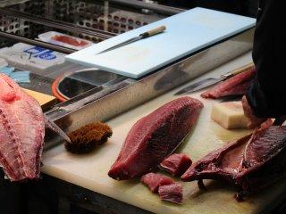 Công đoạn chế biến cá ngừ