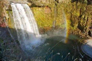 Otodomeno Taki Waterfalls is the first you'll encounter. So powerful!