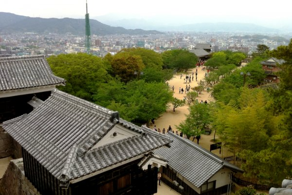 Matsuyama from the castle