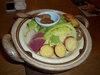Les légumes très frais du restaurant Hiyori