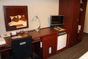 Os quartos estão muito bem equipados, e fornecem-lhe tudo o que precisa para trabalhar
