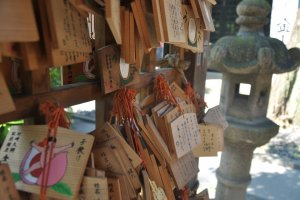 People wrote their prayers on these plaques and hung them up in the shrine