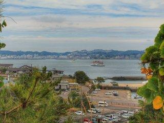Vue sur Kagoshima depuis la plateforme d'observation