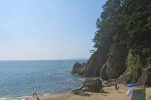 Awashima Island and the sandy beach