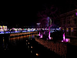 The illuminated canal is 6 km long