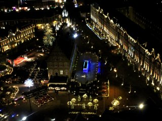 Huis Ten Bosch viewed from the observation deck