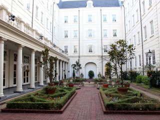 Hotel courtyard during daytime