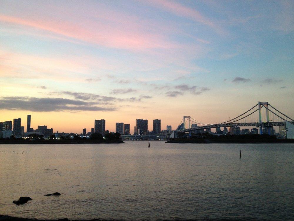 Beautiful dusk at Rainbow Bridge.