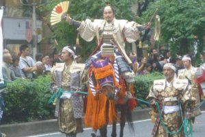 Oda Nobunaga returns to his birthplace, Nagoya