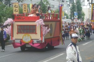 Colorful floats in the annual Nagoya Festival