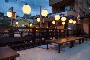 La terrasse du restaurant Tousuiro
