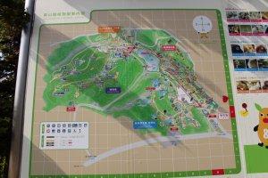 Le plan du zoo et du jardin botanique. C'est très très grand