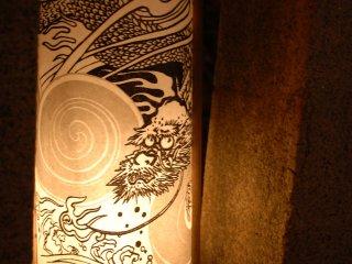 Le détail d'une lanterne