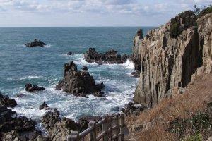 Fukui's famous Tojimbo Cliffs