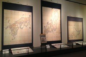 Peta-peta kecil di Museum Tadataka