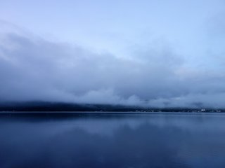 In mere minutes before sunrise at 4:31am, clouds blew over and hid the entirety of the majestic mountain