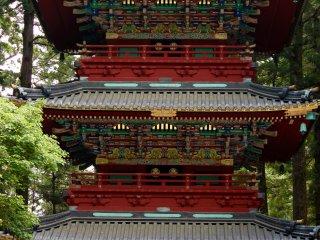 Una pagoda de cinco pisos en Toshogu.