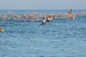 Le Strongman Triathlon, sur l'île Miyako