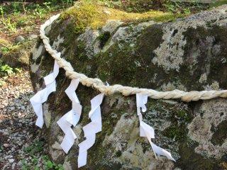 Sacred Shinto stone