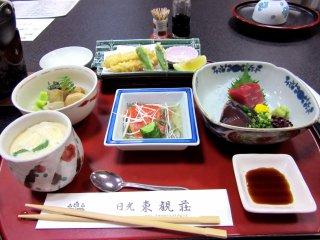 My clorful dinner in Nikko