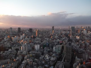 Looking north towards Shinjuku