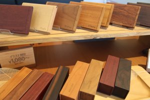 Wide variety of local woods and colors