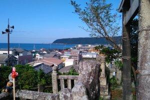 View of Muroto from Shinshoji