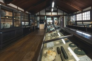 Inside the archaeological museum, which houses relics from thousands of years ago