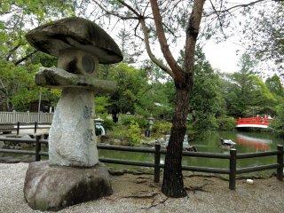 Impressive stone lantern