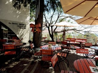 Attractive outdoor dining space at Hotel Imperial