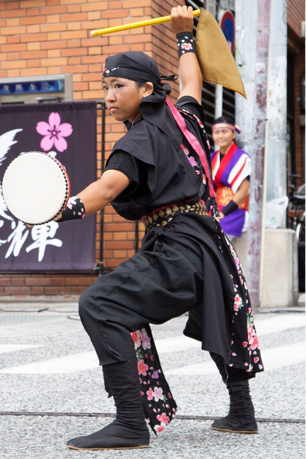 Eisa performer during summer festivities