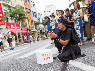 Eisa performance to raise funds for the Kumamoto