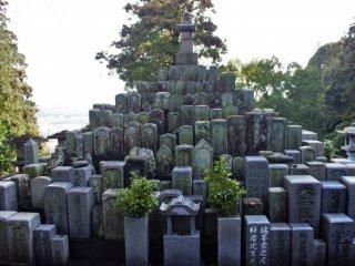 A headstone pyramid