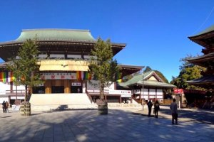 Narita-san Temple welcoming visitors to pray