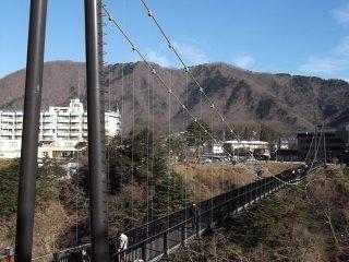 The Kinutateiwa suspension bridge