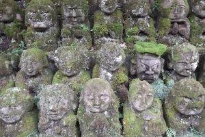 Some of the 1200 statues at Otagi Nenbutsu-ji