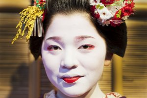 One of the Maiko dancers