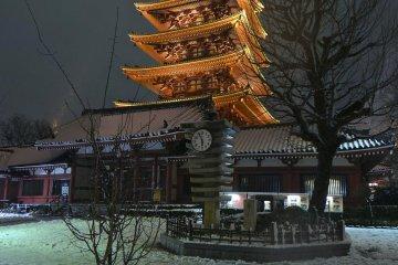 Chutes de Neige à Asakusa